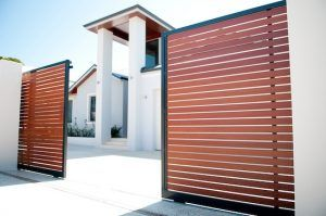 Western Red Cedar Automatic Gate