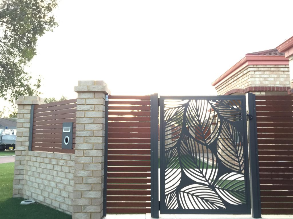 Decorative Screen Gate Leaf Laser Cut