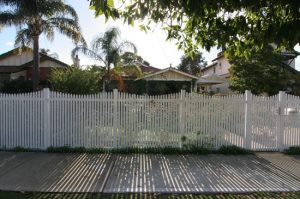 Picket fence for privacy