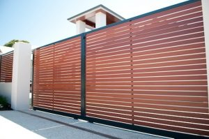 Slat fence and gates