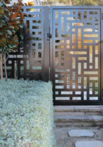 Laser-Cut Perforated Gate