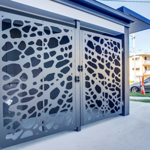Laser-cut decorative gates