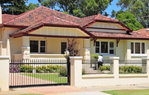 Automatic driveway gates at a home in Perth